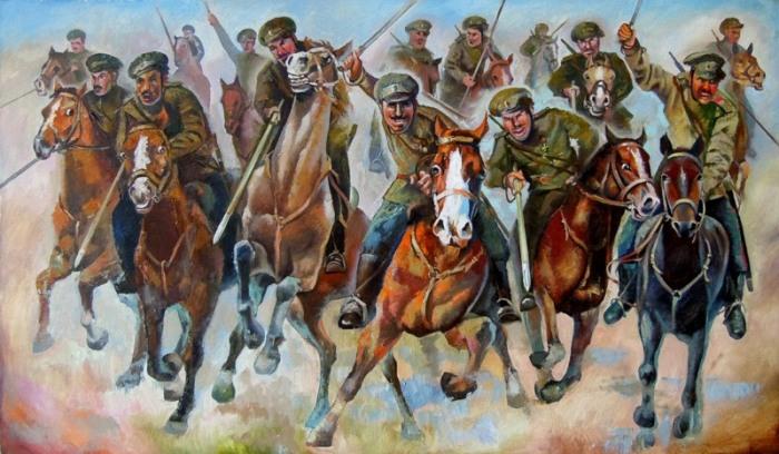 Атака донских казаков, Александр Шебуняев.